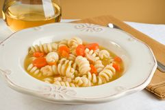 Chicken and Pasta Soup Stock Photo