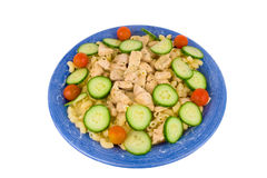 Chicken pasta with vegetables Royalty Free Stock Images