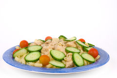 Chicken pasta with vegetables Royalty Free Stock Photo