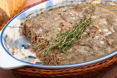 Chicken pate with meat and liver Stock Photo