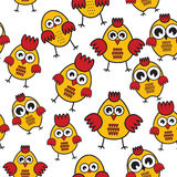 Chicken pattern Stock Photo