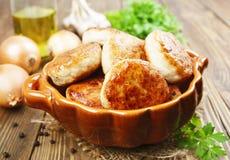 Chicken patties Stock Image