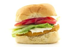Chicken Patty Sandwich Royalty Free Stock Image