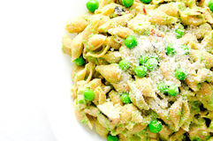 Chicken pea pesto pasta Stock Photography