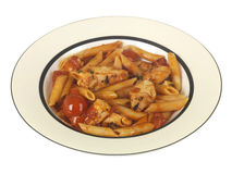 Chicken Penne Arrabbiata Royalty Free Stock Images