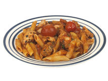 Chicken Penne Arrabbiata Stock Images