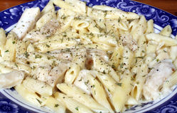 Chicken Penne Pasta Stock Images