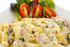 Chicken Penne Pasta Royalty Free Stock Photography
