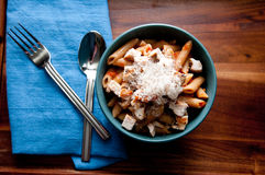 Chicken penne pasta Royalty Free Stock Images