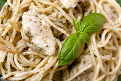 Chicken Pesto Pasta Stock Photos