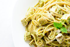 Chicken pesto pasta Royalty Free Stock Images