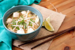 Chicken pho soup Royalty Free Stock Photo