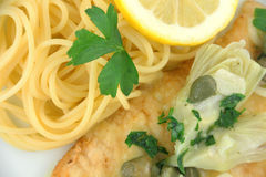 Chicken Picatta Royalty Free Stock Photography