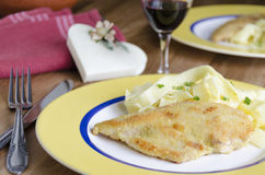 Chicken piccata Stock Photography