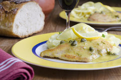 Chicken piccata Royalty Free Stock Images