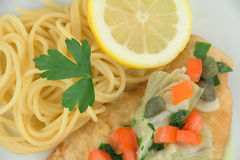 Chicken Piccata Stock Images