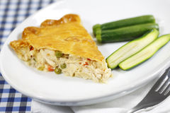 Chicken pie meal Stock Photo