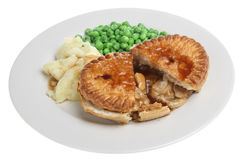 Chicken Pie Meal Stock Photography
