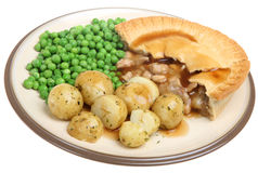 Chicken Pie with New Potatoes Royalty Free Stock Photo
