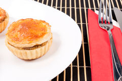 Chicken pie on plate Royalty Free Stock Photo
