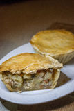 """Chicken pie. The Chicken Pot Pie originated from Greece. They took cooked meats and placed them in open pastry shells that were called """"Artocreas"""". It was Royalty Free Stock Image"""