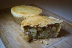 """Chicken pie. The Chicken Pot Pie originated from Greece. They took cooked meats and placed them in open pastry shells that were called """"Artocreas"""". It was Royalty Free Stock Photo"""