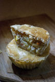 """Chicken pie. The Chicken Pot Pie originated from Greece. They took cooked meats and placed them in open pastry shells that were called """"Artocreas"""". It was Royalty Free Stock Photography"""