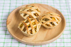 Chicken Pie on wooden dish Stock Images