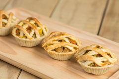 Chicken Pie on wooden dish Royalty Free Stock Photography