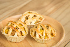 Chicken Pie on wooden dish Stock Photography