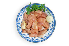 Chicken pieces Stock Photos