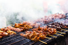 Chicken pieces grilled Royalty Free Stock Photo
