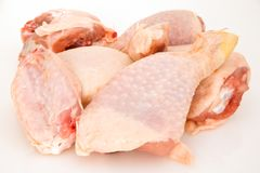 Chicken pieces series Stock Photos