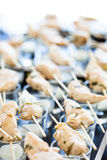 Chicken pieces on skewers Royalty Free Stock Photo