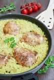 Chicken pilaf Stock Photo