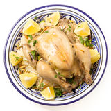 Chicken pilaf from above Royalty Free Stock Photography