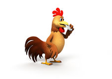 Chicken with pill Royalty Free Stock Image