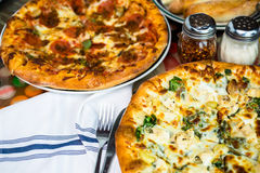 Chicken pine nut pizza Royalty Free Stock Images