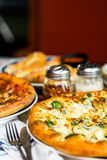 Chicken pine nut pizza Stock Photography
