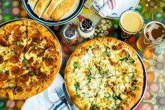 Chicken pine nut pizza Stock Image