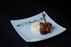 Chicken Pirzola with rice. A simple and tasty dish. royalty free stock images