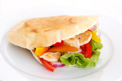 Chicken and pita Stock Photography