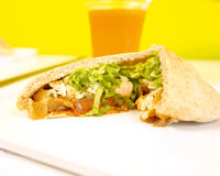 Chicken Pita Royalty Free Stock Photography