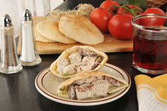 Chicken Pita Pocket Stock Photos