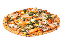 Chicken pizza Stock Photography