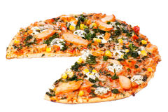 Chicken pizza Royalty Free Stock Images