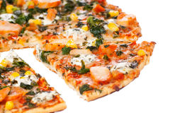 Chicken pizza Royalty Free Stock Photos