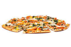Chicken pizza Stock Images