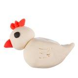 Chicken plasticine. On white bg Stock Photos