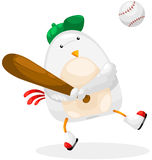 Chicken player baseball Royalty Free Stock Photography